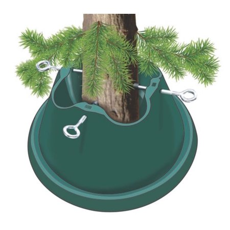 Heavy Duty Green Easy Watering Christmas Tree Stand - For Live Trees Up To