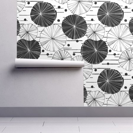 - Peel-and-Stick Removable Wallpaper Botanical Retro Modern Floral Plant Nature