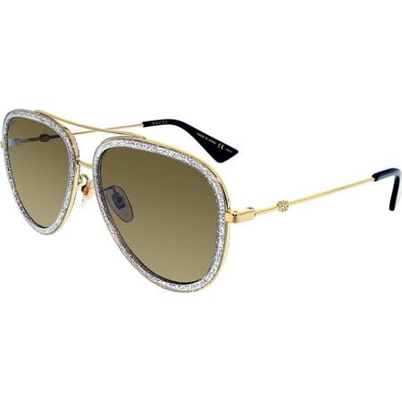 0dbd88f006 Gucci GG0062S-004-57 Gold Aviator Sunglasses