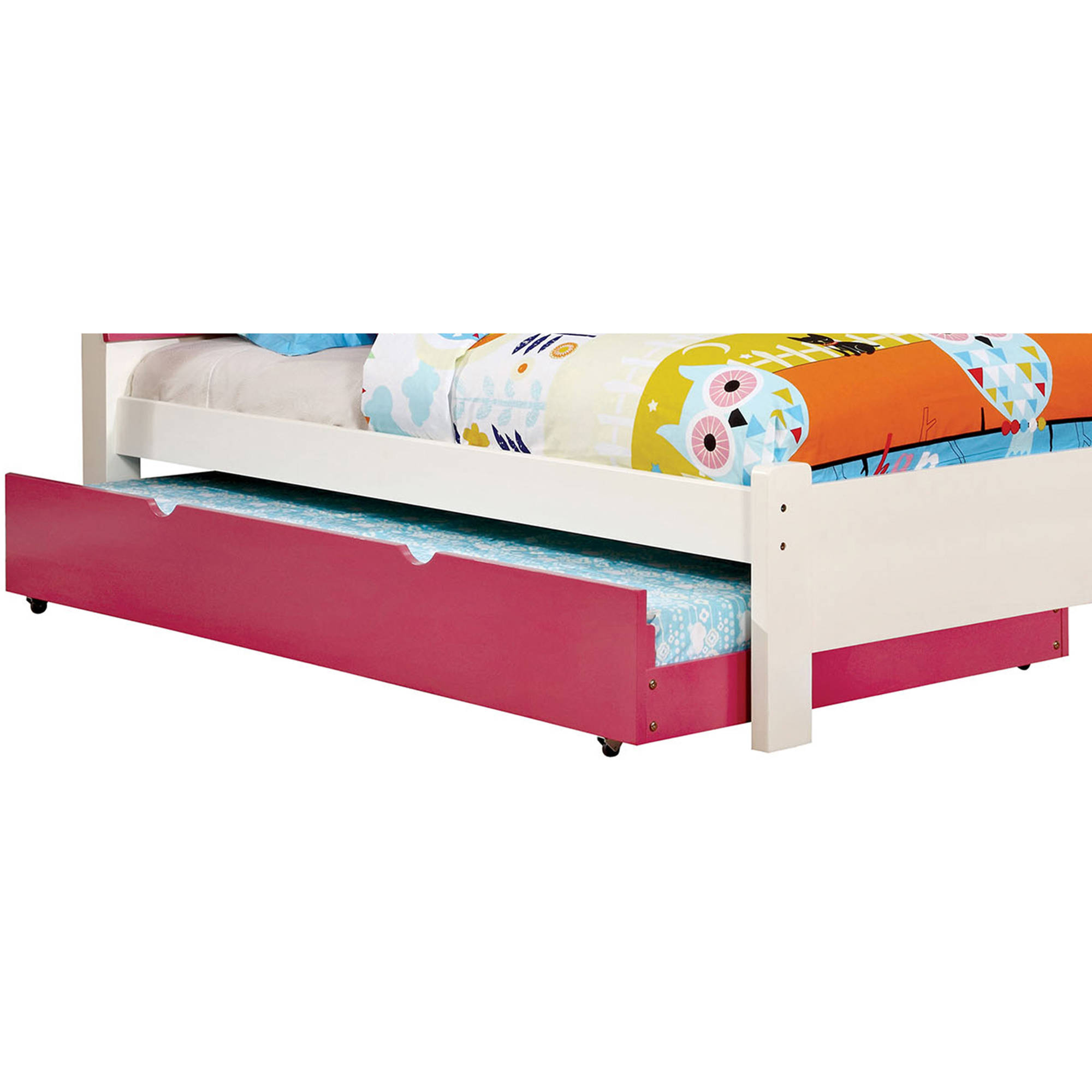 Kimmel Twin Trundle Bed, Pink by