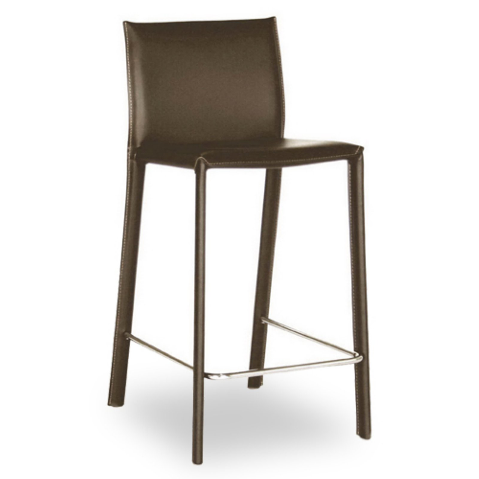 Wholesale Interiors Emsick Leather Wrapped Bar Stools