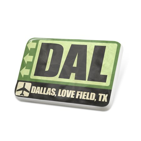Porcelein Pin Airportcode DAL Dallas, Love Field, TX Lapel Badge – NEONBLOND - Dallas Tx Halloween Party