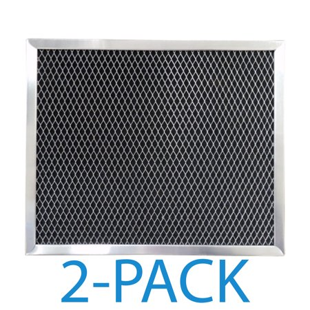 Supco RCP1008 Range Hood Filter (2-Pack) Charcoal filter specifically designed to fit GE, and Broan range hoods and microwave ovens.