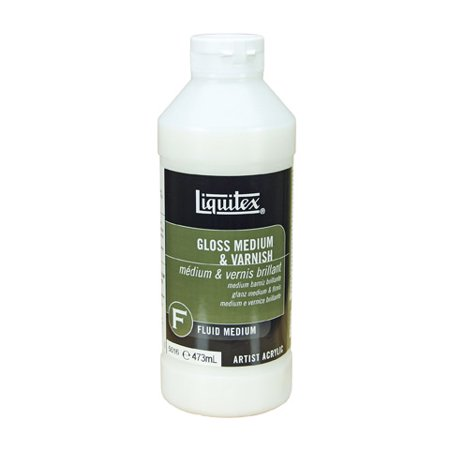 - Liquitex Gloss Fluid Medium & Varnish - 16 ounces