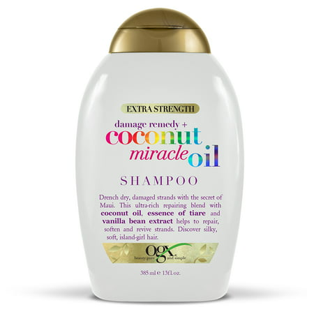 OGX® Extra Strength Damage Remedy + Coconut Miracle Oil Shampoo, 13 FL OZ Eo Coconut Shampoo