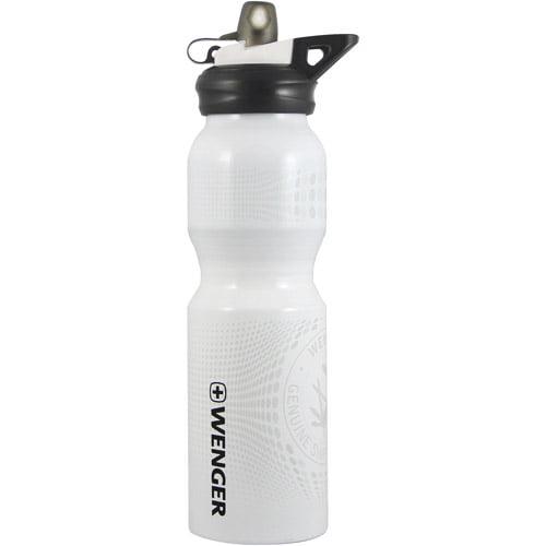 Wenger Sporttop 800mL Aluminum Drinking Bottle, White