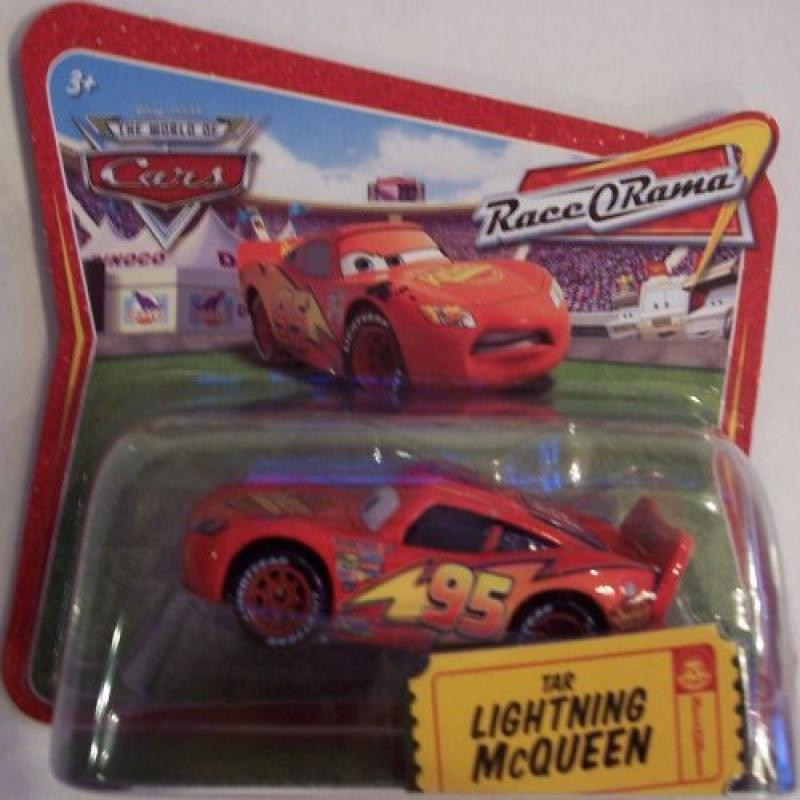 DISNEY PIXAR CARS TAR LIGHTNING McQUEEN RACE O RAMA SHORT CARD