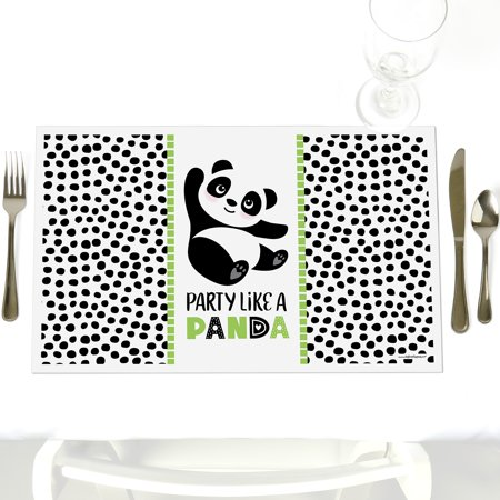 Party Like a Panda Bear - Baby Shower or Birthday Party Placemats - Set of 12