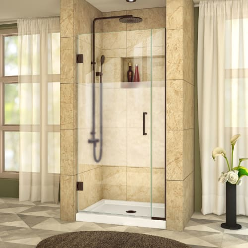"DreamLine SHDR-243207210-HFR Unidoor Plus 72"" High x 32-1/2"" Wide Hinged Framele"