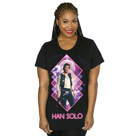 Her Universe Star Wars Neon Han Solo Womens Plus Size T-shirt