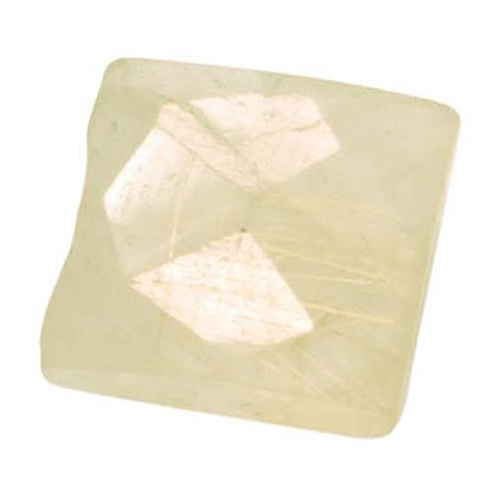 Golden Rutilated Quartz Faceted Rectangle Gemstone Beads 9-16mm (Polished Rectangle Beads)
