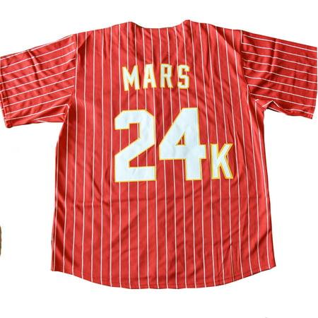 Bruno Mars 24K Hooligans RED Baseball Jersey Magic Costume Uniform BET  Awards - Walmart.com 5bfc27e94b