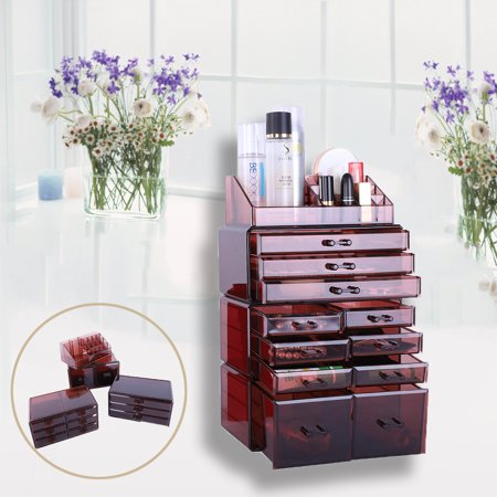 Zimtown Large 8 Tier Clear Cosmetic Makeup Storage Cube Organizer Cosmetic Holder - Tiger Makeup