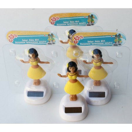 4 HAWAIIAN ALOHA SOLAR POWER LUAU HULA DANCING GIRL YELLOW SKIRT LEI AND FLOWER 4 B11647-1](Hula Skirts And Leis)