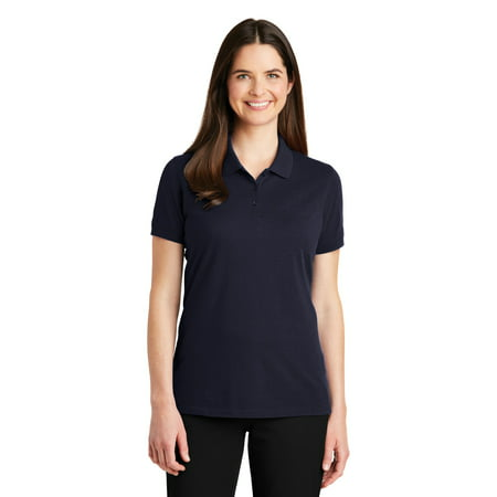 Port Authority LK8000 Ladies EZCotton Polo, Navy, S
