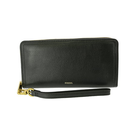 95d4e0b877f5 Fossil Women's Logan Zip Around Clutch - Black