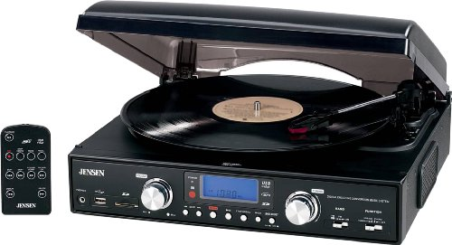 Jensen Digital 3-speed Stereo Turntable With Mp3 Encoding & Am fm Receiver Belt Drive 78,... by Jensen