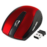 Insten 2.4G Cordless Wireless Optical Mouse with 800 1200 1600 DPI for laptop, chromebook, computer, desktop