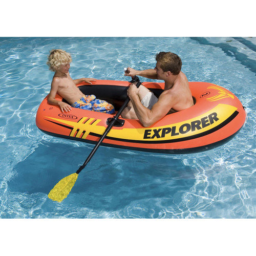 Intex Explorer 200 2-Person Inflatable Floating Boat, Pack of 2 by Intex