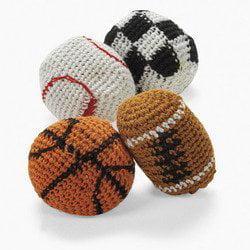 Knitted Sport Ball Kick Balls (1 dozen) - Bulk [Toy] (Kick To The Balls)