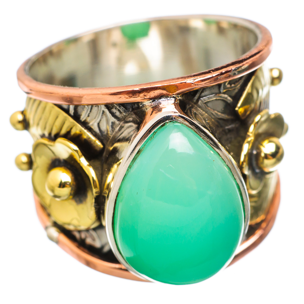 Ana Silver Co Chrysoprase Flower 925 Sterling Silver Ring Size 9 RING834663 by Ana Silver Co.