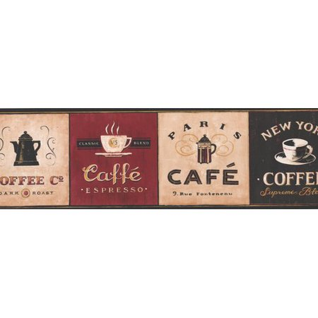 Retro Art Vintage Design Coffee Places Kitchen 7 L x 180 W Food and Be