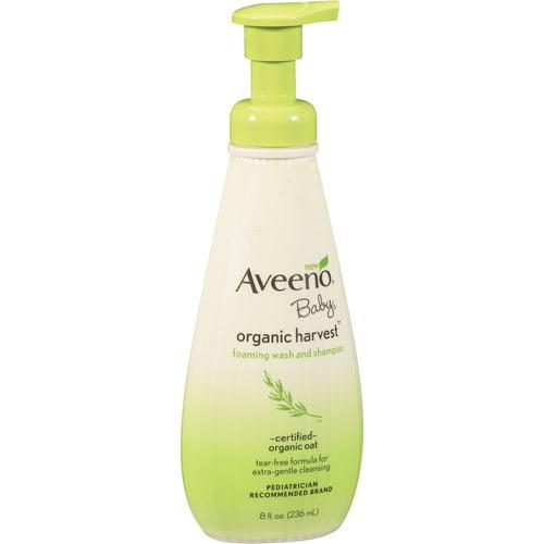 Aveeno Organic Harvest Baby Wash & Shampoo, 8 Fl Oz