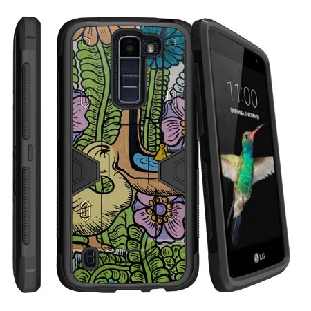 Heavy Duty Fish - LG K7 | LG Tribute 5 Dual Layer Shock Resistant MAX DEFENSE Heavy Duty Case with Built In Kickstand - Pelican Fish Green