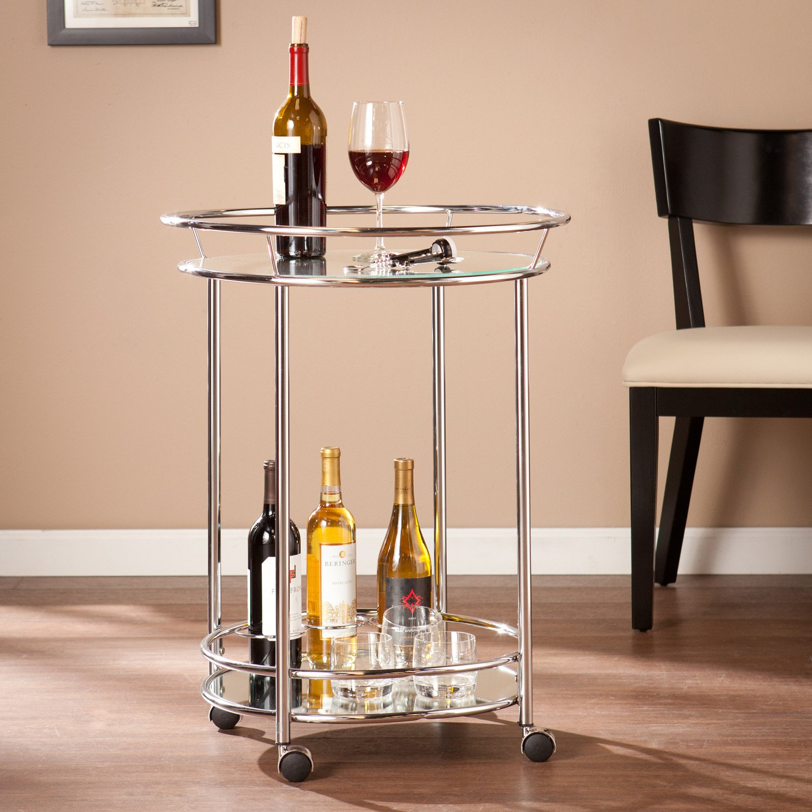 Southern Enterprises Cressida Bar Cart - Chrome