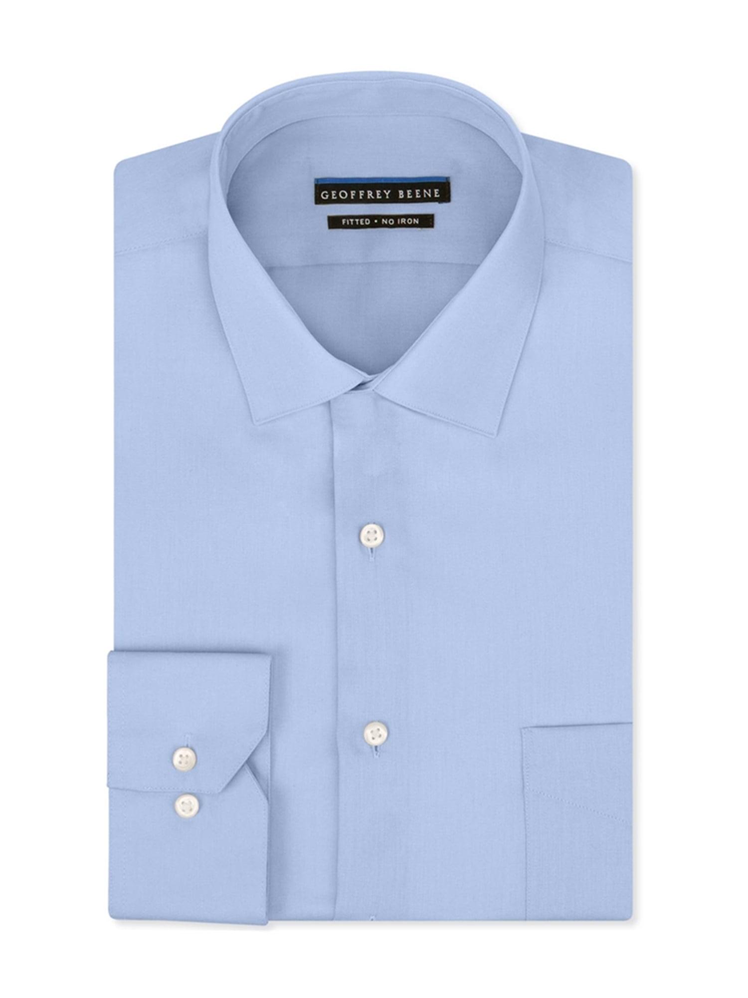 Geoffrey Beene Geoffrey Beene Mens Sateen Button Up Dress Shirt
