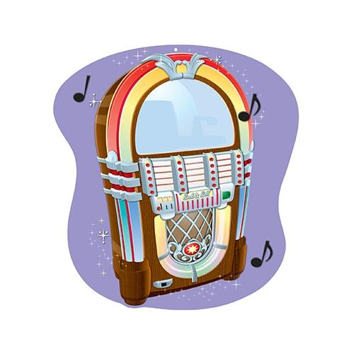 Shoplet Best JUKEBOX TWO SIDED DECORATION SCBCD-188033-11 (Pack of 11)