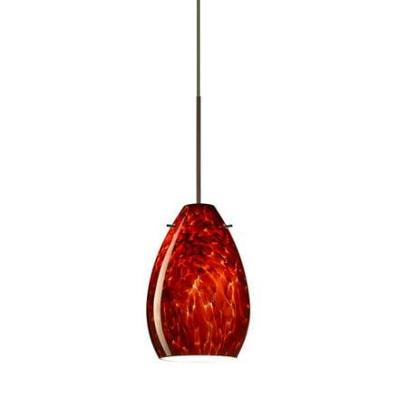 Besa Lighting 1XT-171341 Pera 1 Light Halogen Cord-Hung Mini Pendant with Garnet