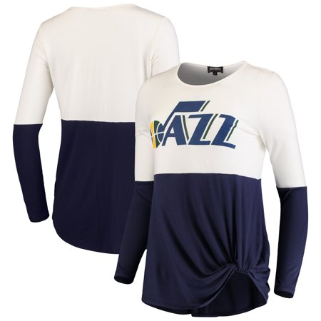 bd5d5c214 Utah Jazz Women s In It To Win It Colorblock Long Sleeve T-Shirt - Navy -  Walmart.com