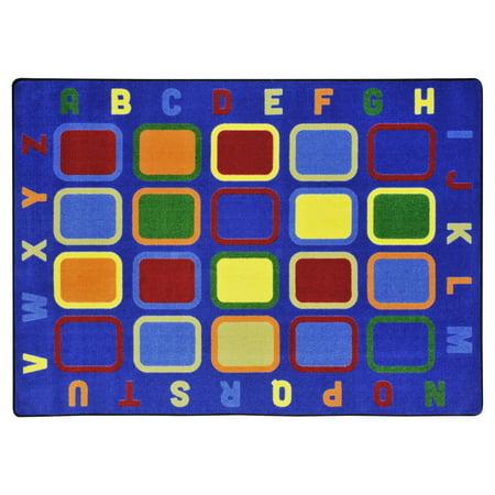Joy Carpets Alphabet Tiles Kids Indoor Area Rug (Alphabet Carpet)