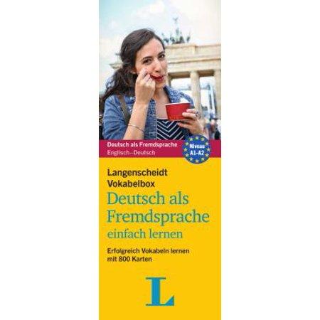 Langenscheidt Vokabelbox Deutsch ALS Fremdsprache - German-English Vocabulary Flash Cards : Learning Made Easy (English Vocabulary Cards)