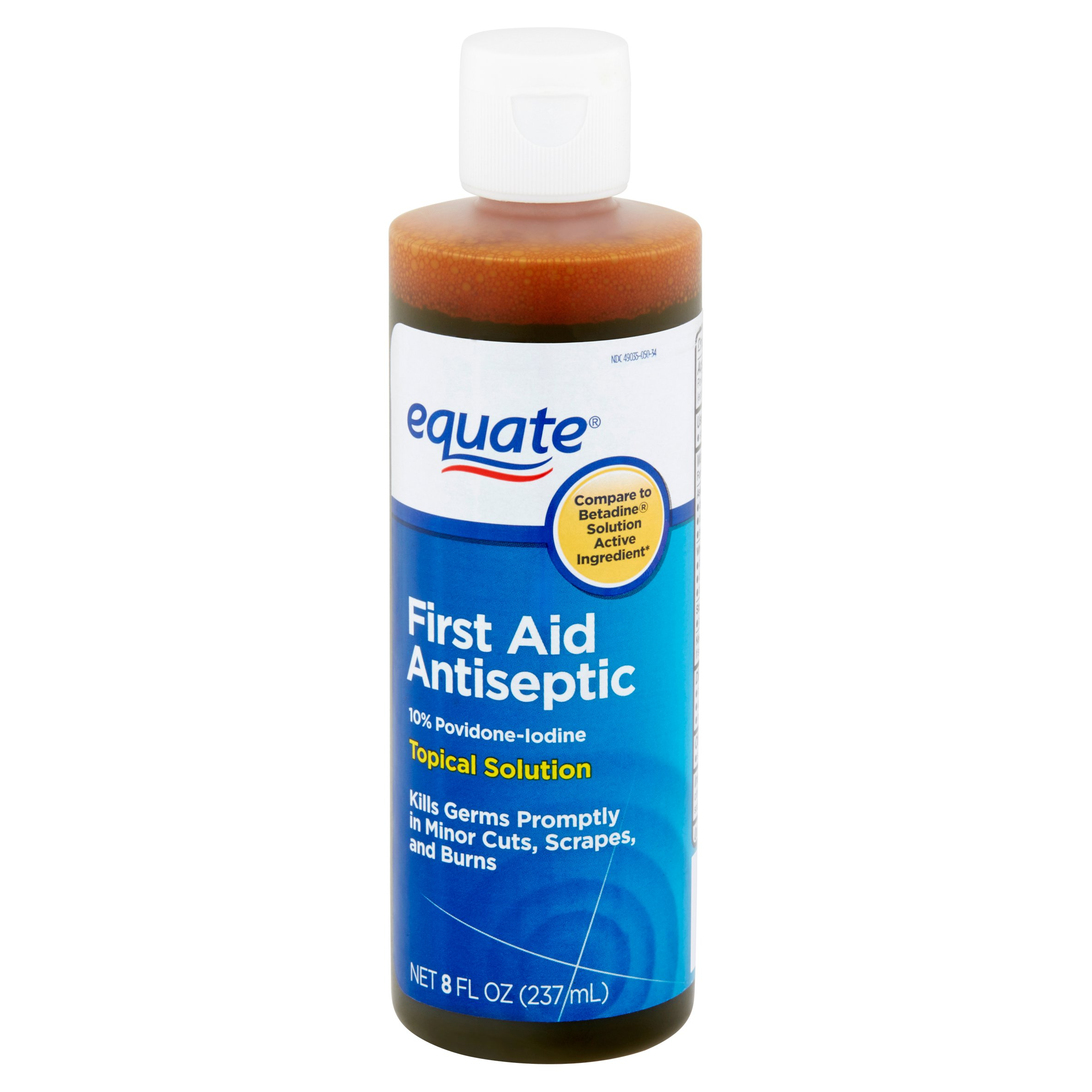 Equate First Aid Antiseptic Topical Solution, 8 Fl Oz