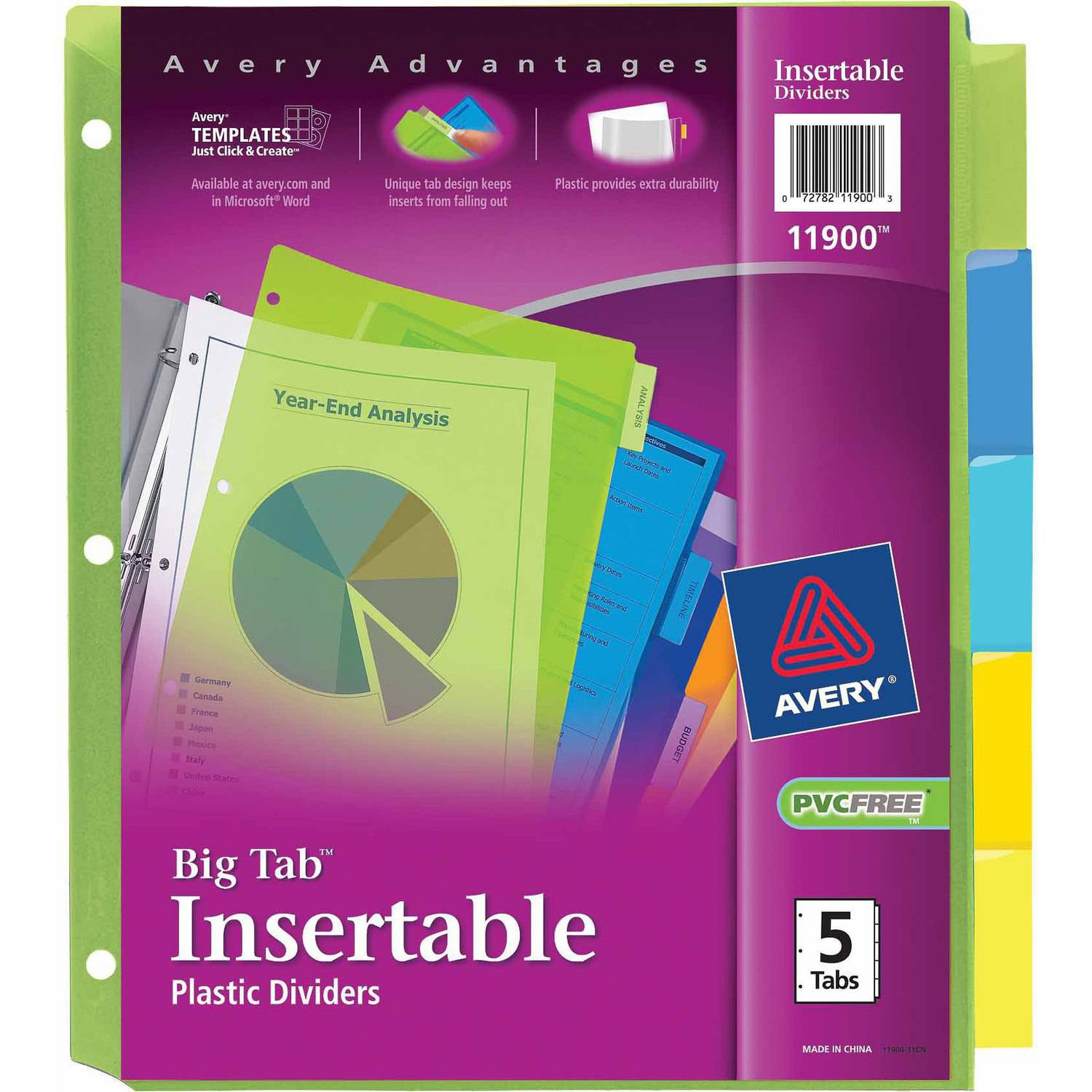 Avery White Print-On Tabs for High-Speed Copiers and Offset Presses 20406, 5-Tab, 30 Sets per Pack