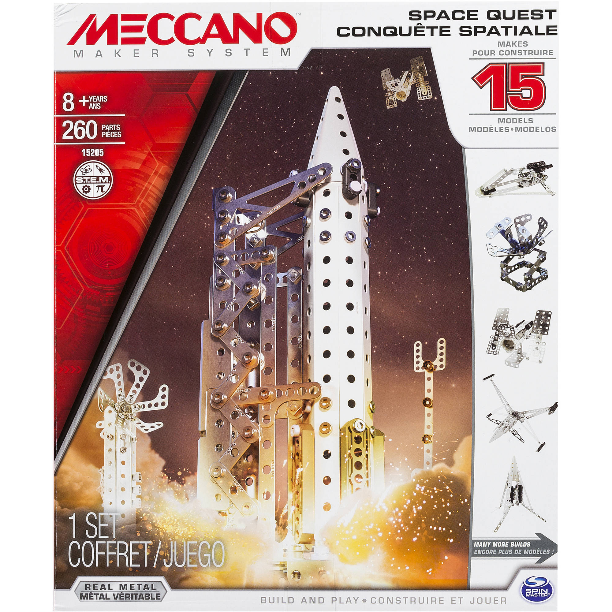 Meccano-Erector Space Quest Set, 15 Model Set by SPIN MASTER