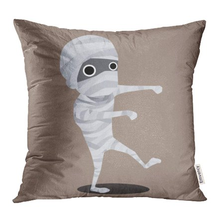 USART Flat Halloween Cartoon Character Mummy Monster Ancient Bandage Costumes Cute Dead Pillow Case Pillow Cover 18x18 inch Throw Pillow - Mummy Cartoon Halloween