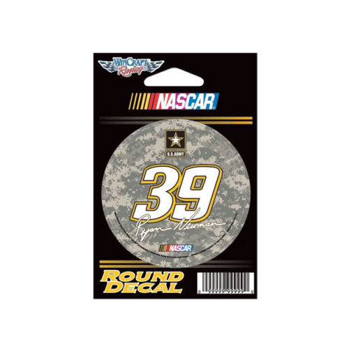 Ryan Newman Official NASCAR 3 inch  Round Vinyl Car Decal by WinCraft