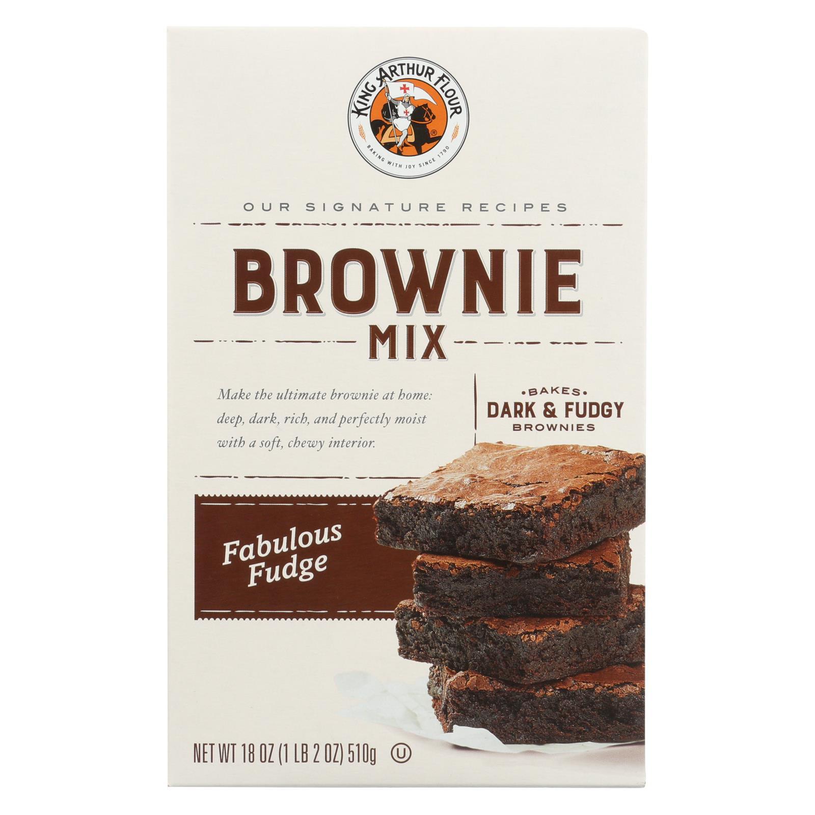 King Arthur Mix Fudge Brownie 18 OZ (Pack of 6)