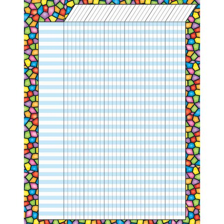 Horizontal Jumbo Incentive Charts - T-73272 - Stained Glass Vertical Incentive Chart – Jumbo by Trend Enterprises Inc.
