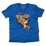 Redneck Map Funny Shirt   Country Luke Bryan Cool Cowboy Gift V-Neck T-Shirt