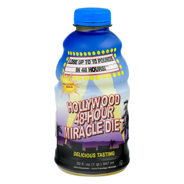 Hollywood 48-Hour Miracle Diet Detox Weight Loss Supplement, 32.0 Fl oz
