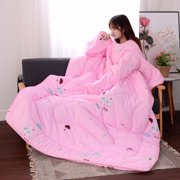 JPGIF Winter Lazy Quilt With Sleeves Quilt Winter Warm Thickened Washed Quilt Blanket