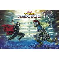 "Thor 3: Ragnarok - Marvel Movie Poster / Print (Battle - Thor & The Hulk) (Size: 36"" x 24"")"