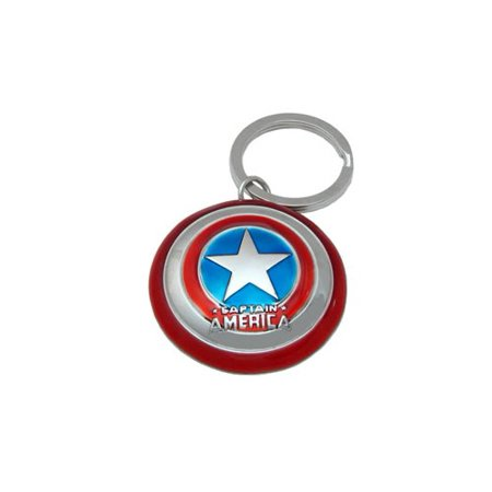 Captain America Pewter Keychain