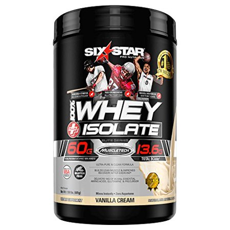 Elite Whey Isolate Protein Powder French VanillaHelps Gain Lean Muscles
