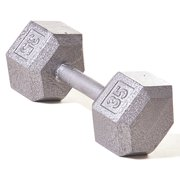 Champion Barbell® 75 lb Solid Hex Dumbbell (SOLD INDIVIDUALLY)
