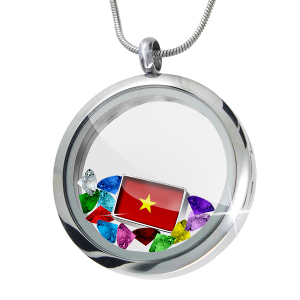 Floating Locket Set Vietnam Flag NEONBLOND by NEONBLOND